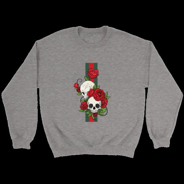 Roses Of Gucci Skull Premium Crewneck Sweatshirt