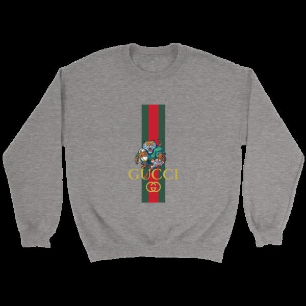 Gucci Tiger Rugby Logo Premium Crewneck Sweatshirt