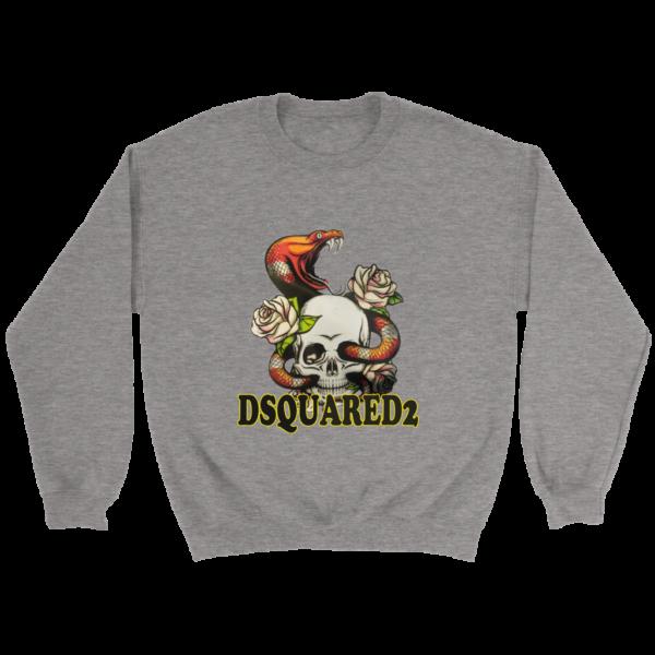 Dsquared2 Snake Skull And Rose Crewneck Sweatshirt