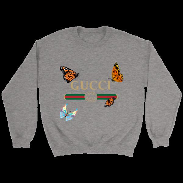 Gucci Butterfly Printed Edition Crewneck Sweatshirt
