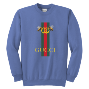 Gucci Bee Logo Drip Youth Crewneck Sweatshirt