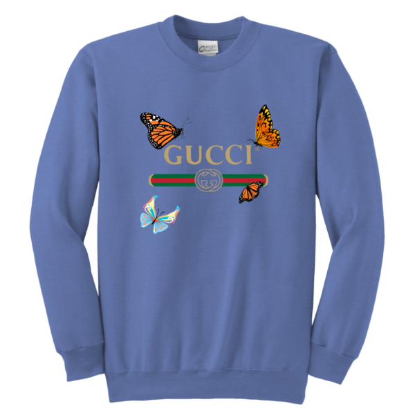 Gucci Butterfly Printed Edition Youth Crewneck Sweatshirt