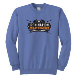 Iron Nation Harley Davidson Logo Youth Crewneck Sweatshirt