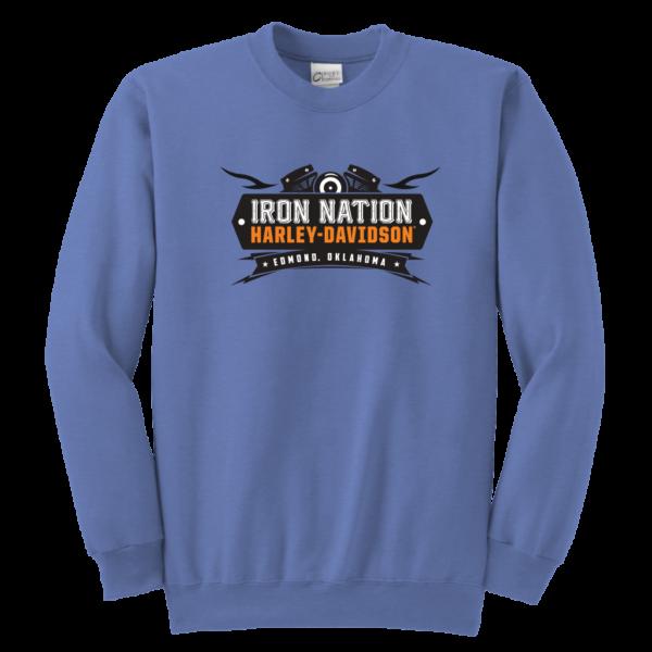 Iron Nation Harley Davidson Logo Youth Crewneck Sweatshirt