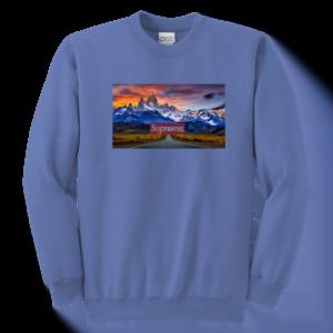 Supreme Patagonia Mountains Youth Crewneck Sweatshirt