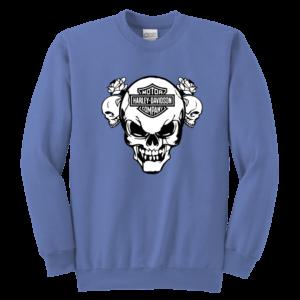 Harley Davidson Skull Youth Crewneck Sweatshirt