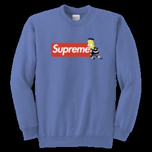 Bart Simpson Supreme Youth Crewneck Sweatshirt