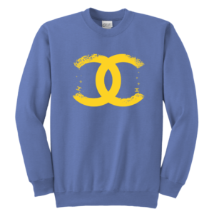 CoCo Chanel Logo Premium Youth Crewneck Sweatshirt