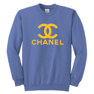 CoCo Chanel Logo Youth Crewneck Sweatshirt