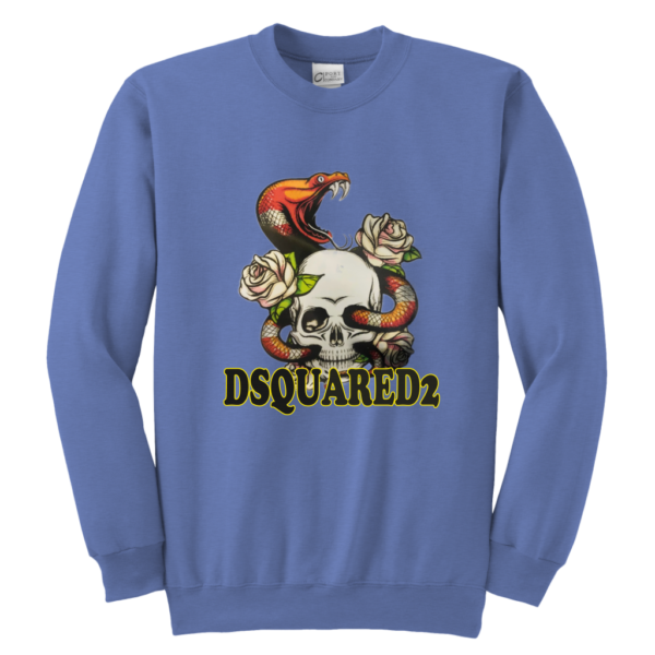 Dsquared2 Snake Skull And Rose Youth Crewneck Sweatshirt