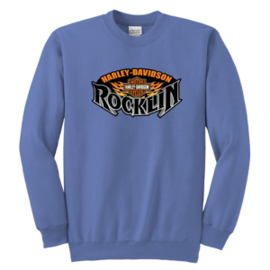 Harley Davidson Of Rocklin Youth Crewneck Sweatshirt