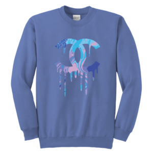 Chanel Logo Dripping Jade Green Youth Crewneck Sweatshirt