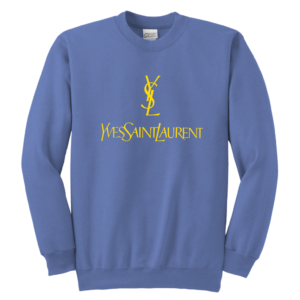 YSL Yves Saint Laurent Logo Youth Crewneck Sweatshirt