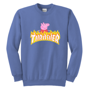 Peppa Pig Thrasher Premium Youth Crewneck Sweatshirt