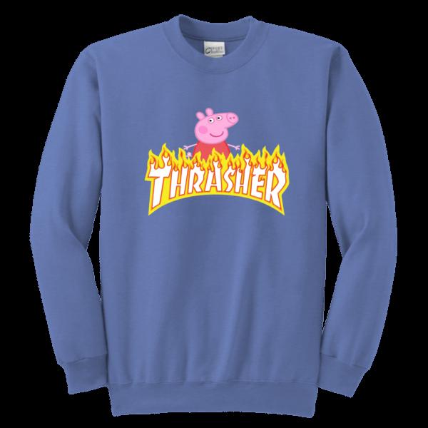 Peppa Pig Thrasher Premium Youth Crewneck Sweatshirt