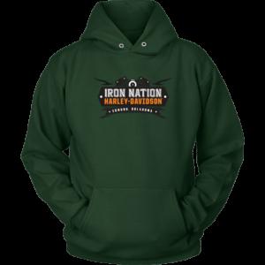 Iron Nation Harley Davidson Logo Unisex Hoodie
