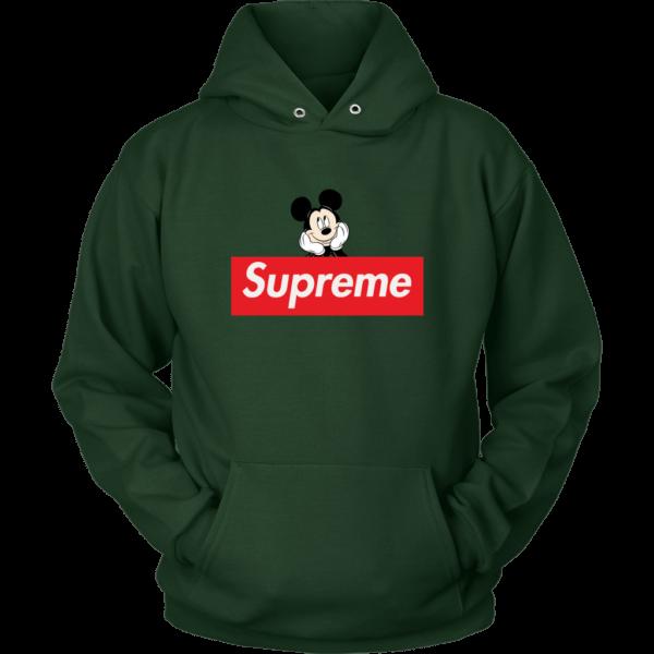 Supreme Mickey Mouse Logo Premium Unisex Hoodie
