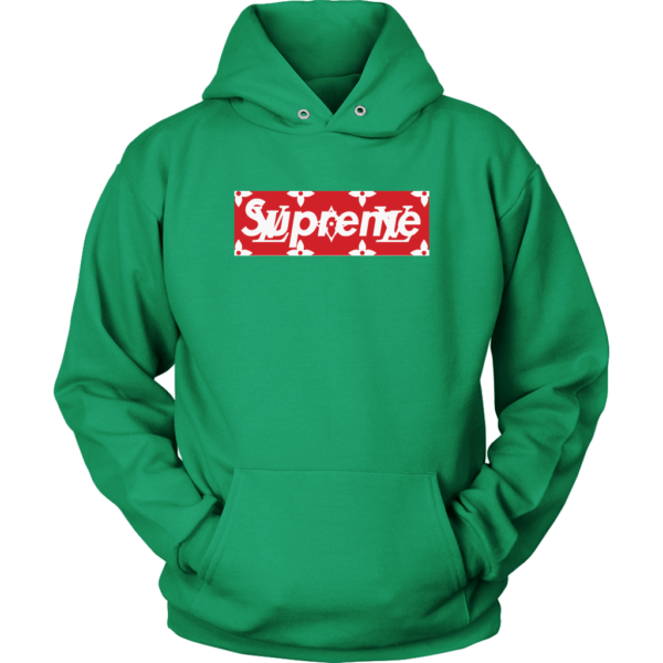 Supreme x Louis Vuitton Logo Unisex Hoodie