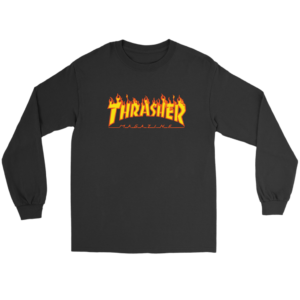 Thrasher Flame Logo Long Sleeve Tee