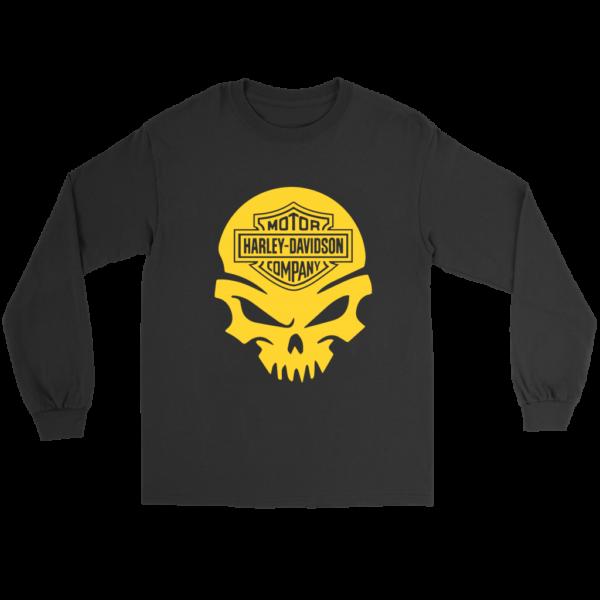 Harley Davidson Gold Skull Long Sleeve Tee