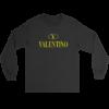 Valentino Logo Rainbow Long Sleeve Tee