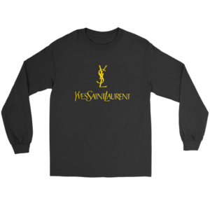 YSL Yves Saint Laurent Logo Long Sleeve Tee