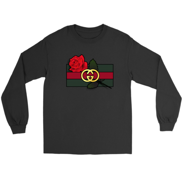 Gucci Rose Printed Long Sleeve Tee