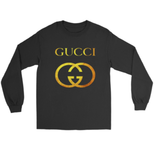 Gucci Gold Logo Long Sleeve Tee