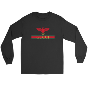 Gucci Red Eagle Bird Long Sleeve Tee