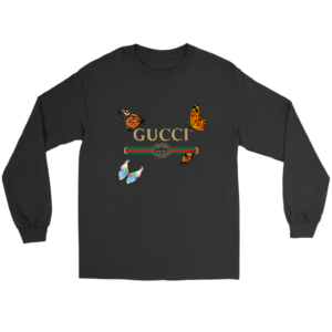 Gucci Butterfly Printed Edition Long Sleeve Tee