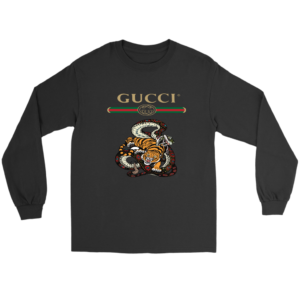 Gucci Logo Edition Tiger Vs Snake Long Sleeve Tee