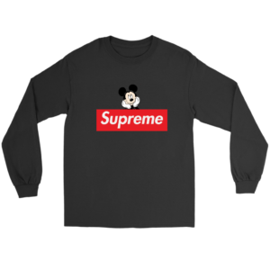 Supreme Mickey Mouse Logo Premium Long Sleeve Tee