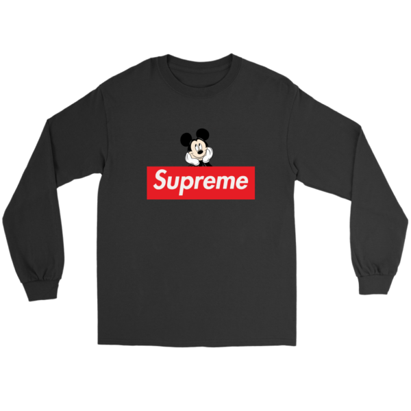 Supreme Mickey Mouse Logo Premium Long Sleeve Tee