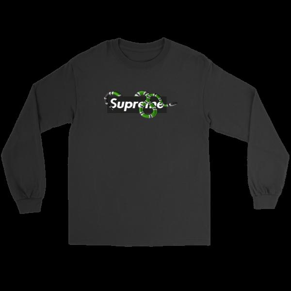 Supreme Snake Logo Limited Edition Long Sleeve Tee
