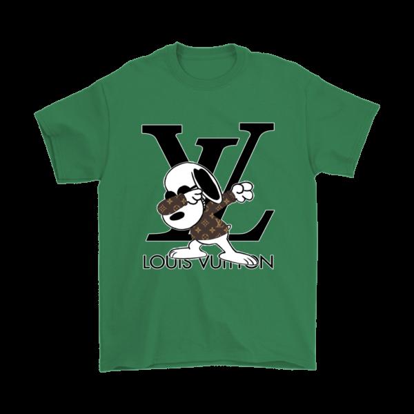 Snoopy Louis Vuitton Logo Mens T-Shirt
