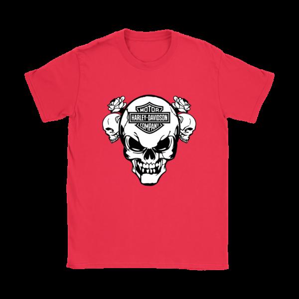 Harley Davidson Skull Womens T-Shirt