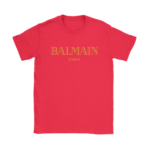 Balmain Gold Logo Womens T-Shirt