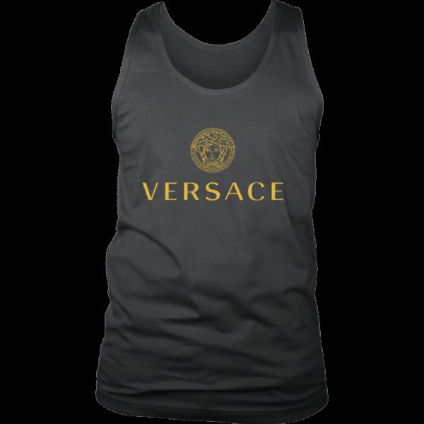 Versace Gold Logo Mens Tank Top