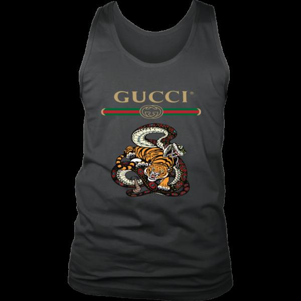 Gucci Logo Edition Tiger Vs Snake Mens Tank Top