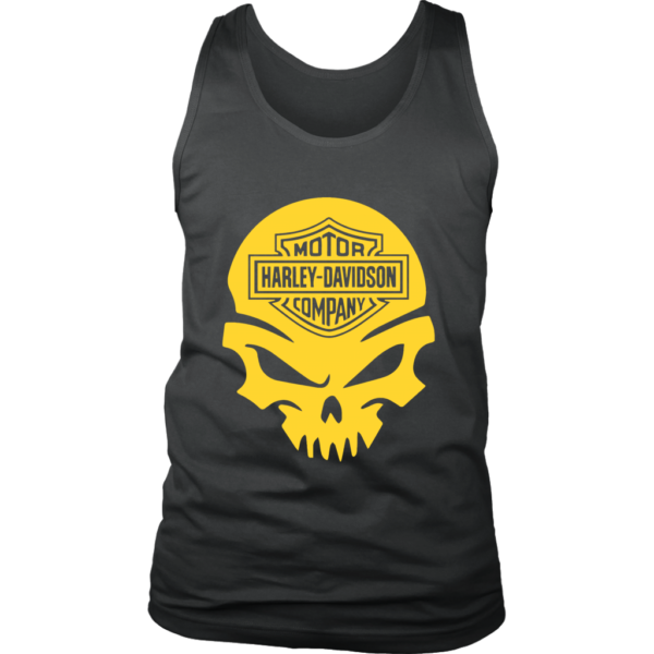 Harley Davidson Gold Skull Mens Tank Top