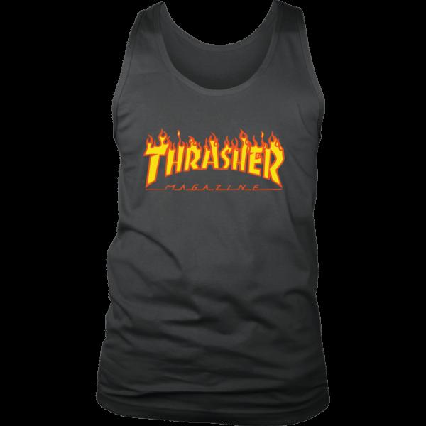 Thrasher Flame Logo Mens Tank Top