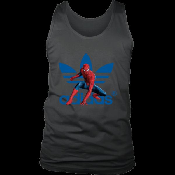 Spiderman Adidas Marvel Logo Mens Tank Top