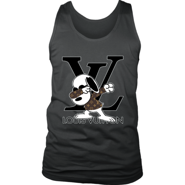 Snoopy Louis Vuitton Logo Mens Tank Top
