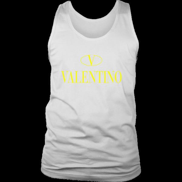 Valentino Logo Gold Premium Edition Mens Tank Top