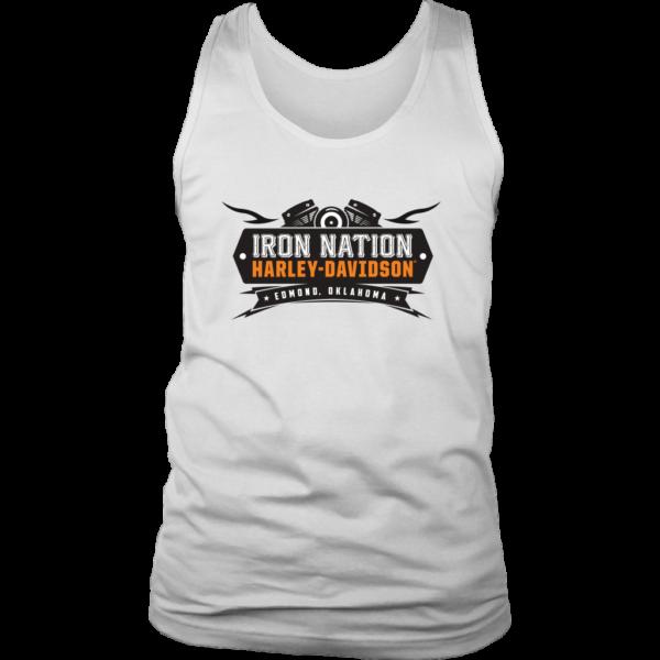 Iron Nation Harley Davidson Logo Mens Tank Top