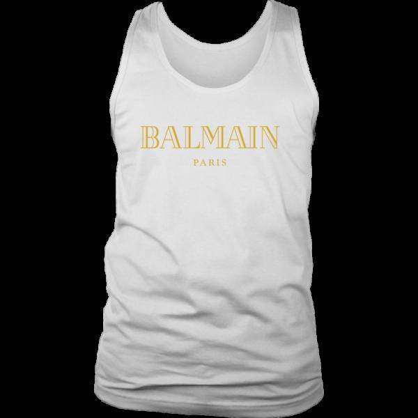 Balmain Gold Logo Mens Tank Top