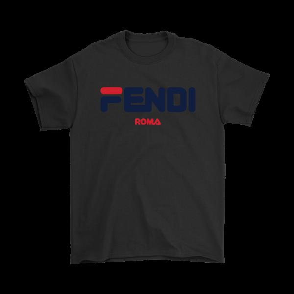 Fendi Logo Mens T-Shirt