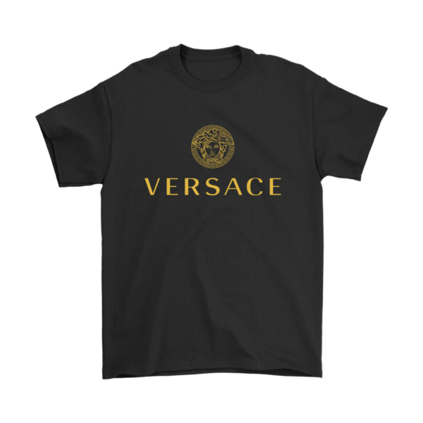 Versace Gold Logo Mens T-Shirt