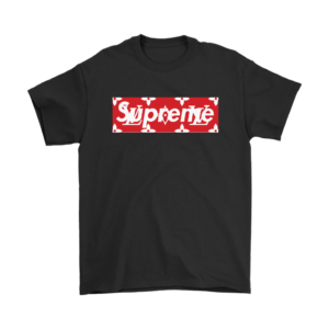 Supreme x Louis Vuitton Logo Mens T-Shirt