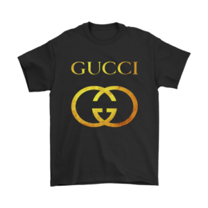 Gucci Gold Logo Mens T-Shirt